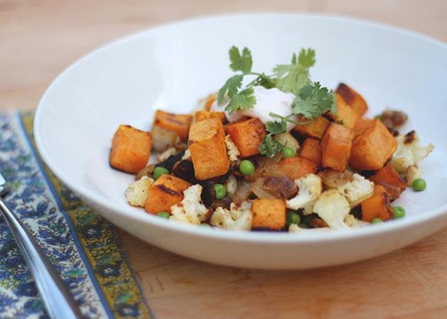 Samosa Sweet Potato Hash